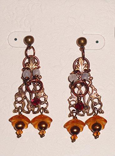 Renaissance Earrings Bronze (Renaissance Bronze Chandelier)