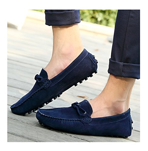 Always Pretty Mens Casual Penny Loafers Moccasin Driving Shoes Navyblue 9K8V7