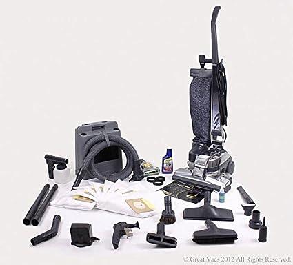 GV Aspirador de G4 con las herramientas, cepillo, turbo y bolsas 14Pc Kirby Negro