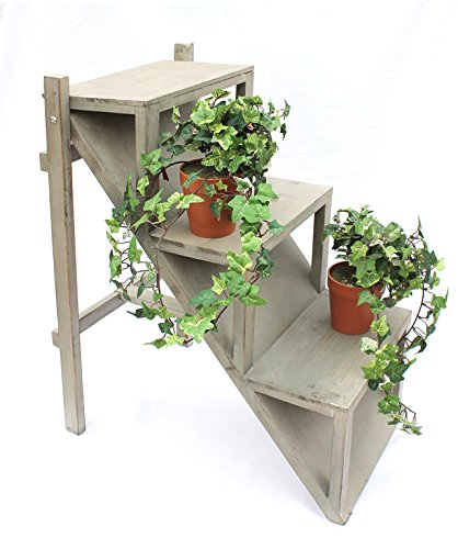 Blumentreppe 14B370 aus Holz 66cm Blumenständer Pflanzentreppe Blumenregal Regal
