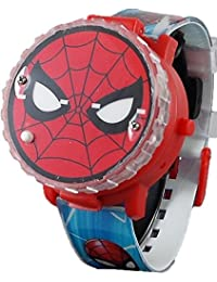 Spiderman Kid's Light up Spinner Digital Watch with Pop...