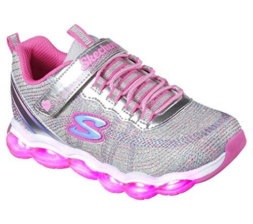 Glimmer Lights Sneaker, Silver/Pink, 12.5 M US Little Kid ()