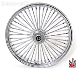 21 x3.5'' Chrome Mammoth 48 Fat Spokes Front Wheel With 25mm ABS Bearings for Harley-Davidson Dual Disc