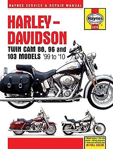 harley davidson twin cam 88 96 001 haynes service repair manual rh amazon com 2013 harley davidson softail service manual 2013 softail service manual