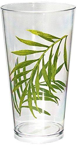 Corelle Coordinates Bamboo Leaf 19-Ounce Acrylic Glass, Set of 6 by CORELLE Corelle Coordinates Bamboo Leaf