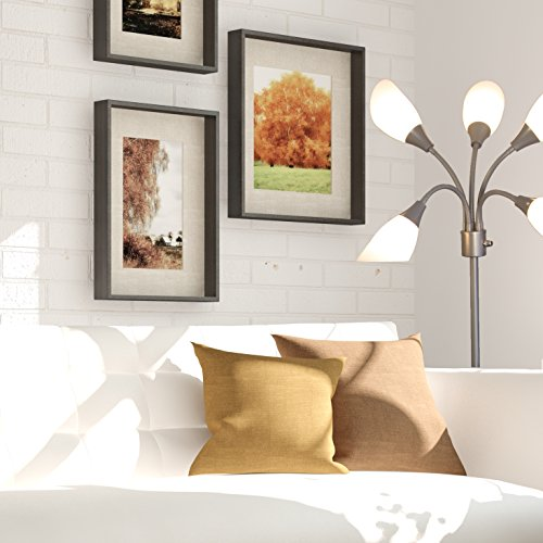 Light Accents Medusa Grey Floor Lamp with White Acrylic Shades by LIGHTACCENTS (Image #8)