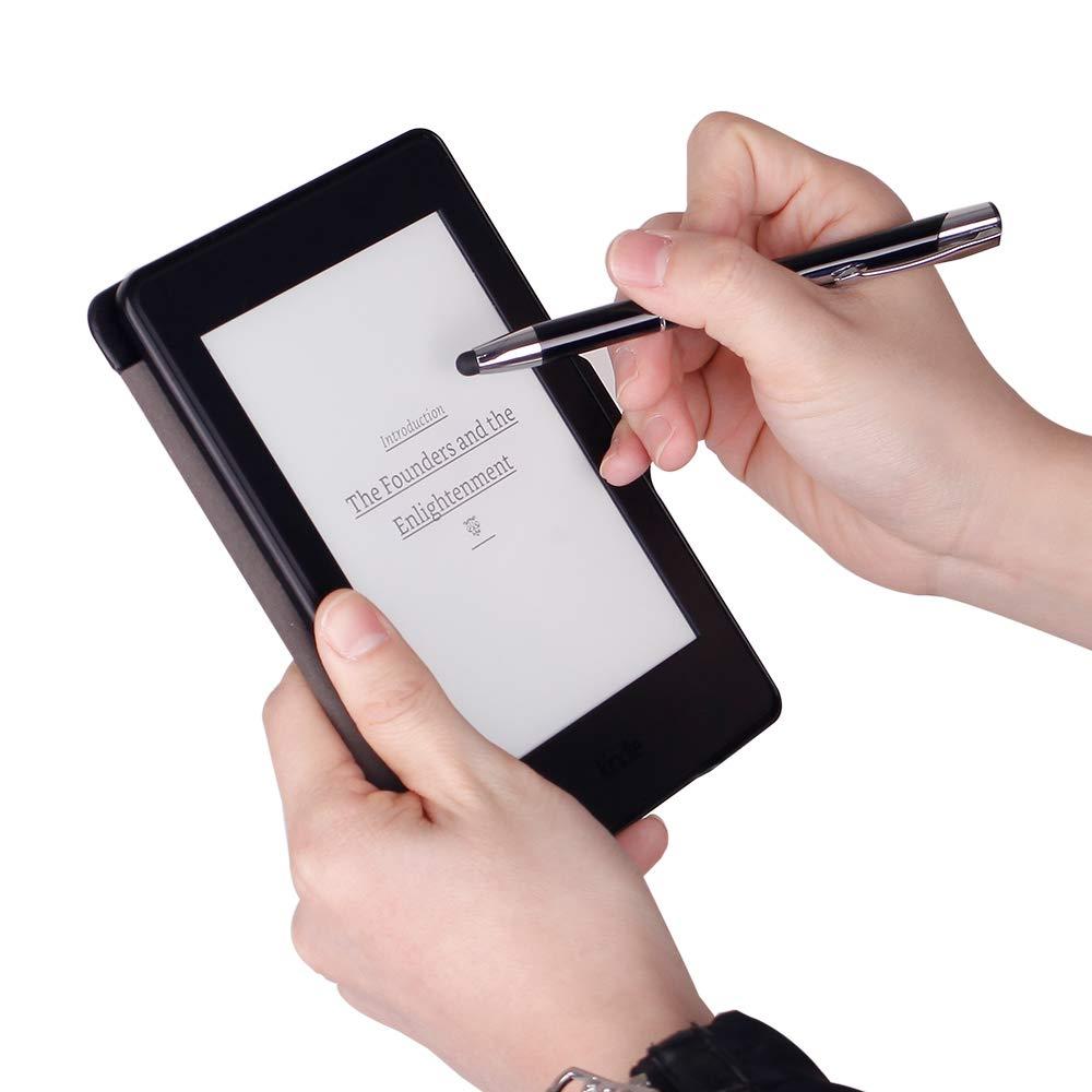 Scriptract Lot de 10 stylos /à bille r/étractables Encre noire 1 mm Stylet capacitif universel 2 en 1 pour /écran tactile 10 pack B