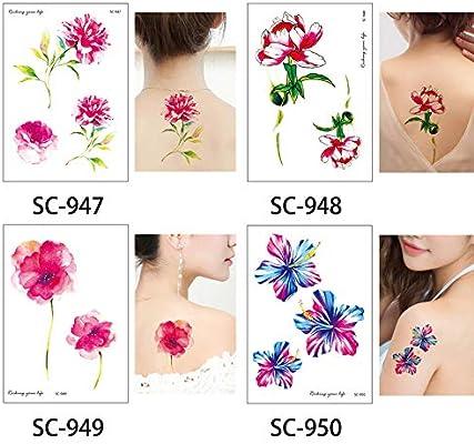 Tatuajes Temporales Niños Piratas Tatuaje De La Flor Dibujo ...