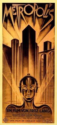 German Vintage Poster - Metropolis Germany German Science-fiction Movie Film of Von Fritz Lang 14
