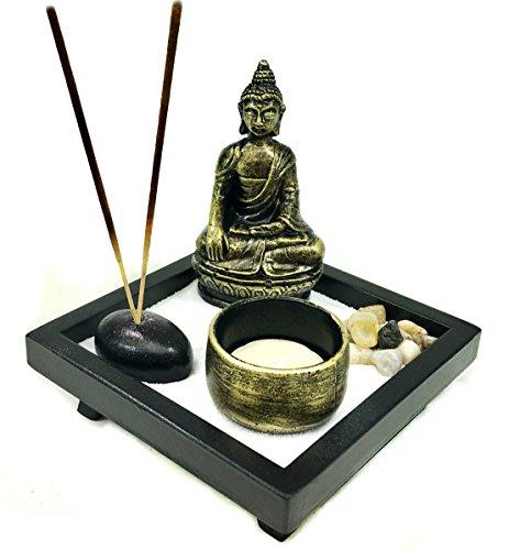 Bellaa 25105 Buddha Statues Zen Garden Incense Stick Holder