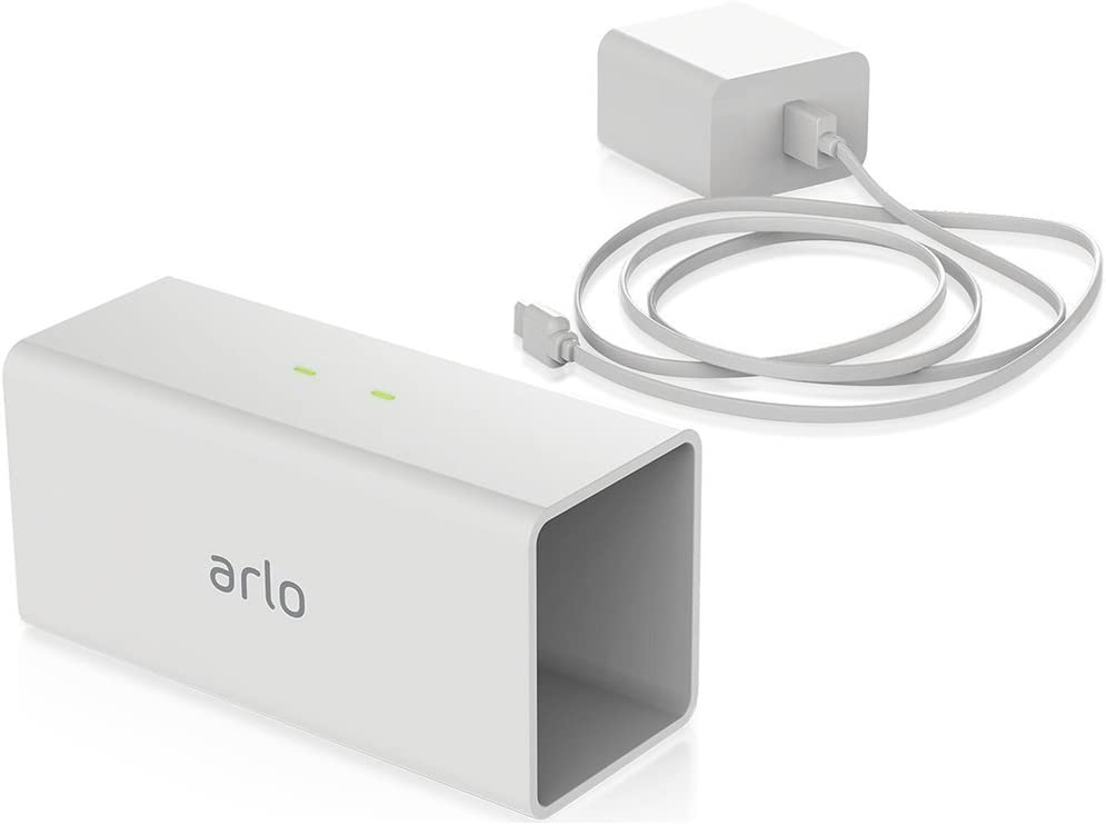 White Arlo Pro Security Camera Charging Station