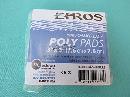 Dental Mixing Pads 3 X 3 Size Poly Pads 100 Sheets Foamed Back Cements Art Craft Glue MADE IN USA