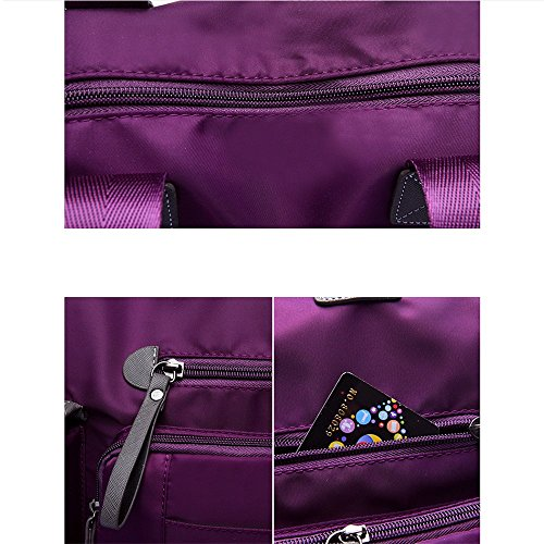 épaule de Penao Purple en nylon 35cmx13cmx30cm à fashion main Sac taille messager casual femme sac 0r6zq0wT
