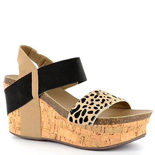 Corkys Wedge Women's Sandal 8 B(M) US Cheetah