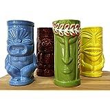 BarConic Tiki Mugs Drinkware Package 5 - Set of 4