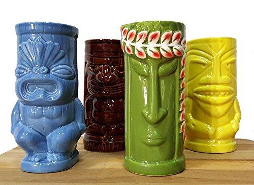 BarConic Tiki Mugs Drinkware Package 5 - Set of ()