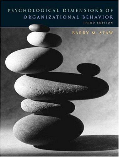 Psychological Dimensions of Organizational Behavior (3rd Edition)