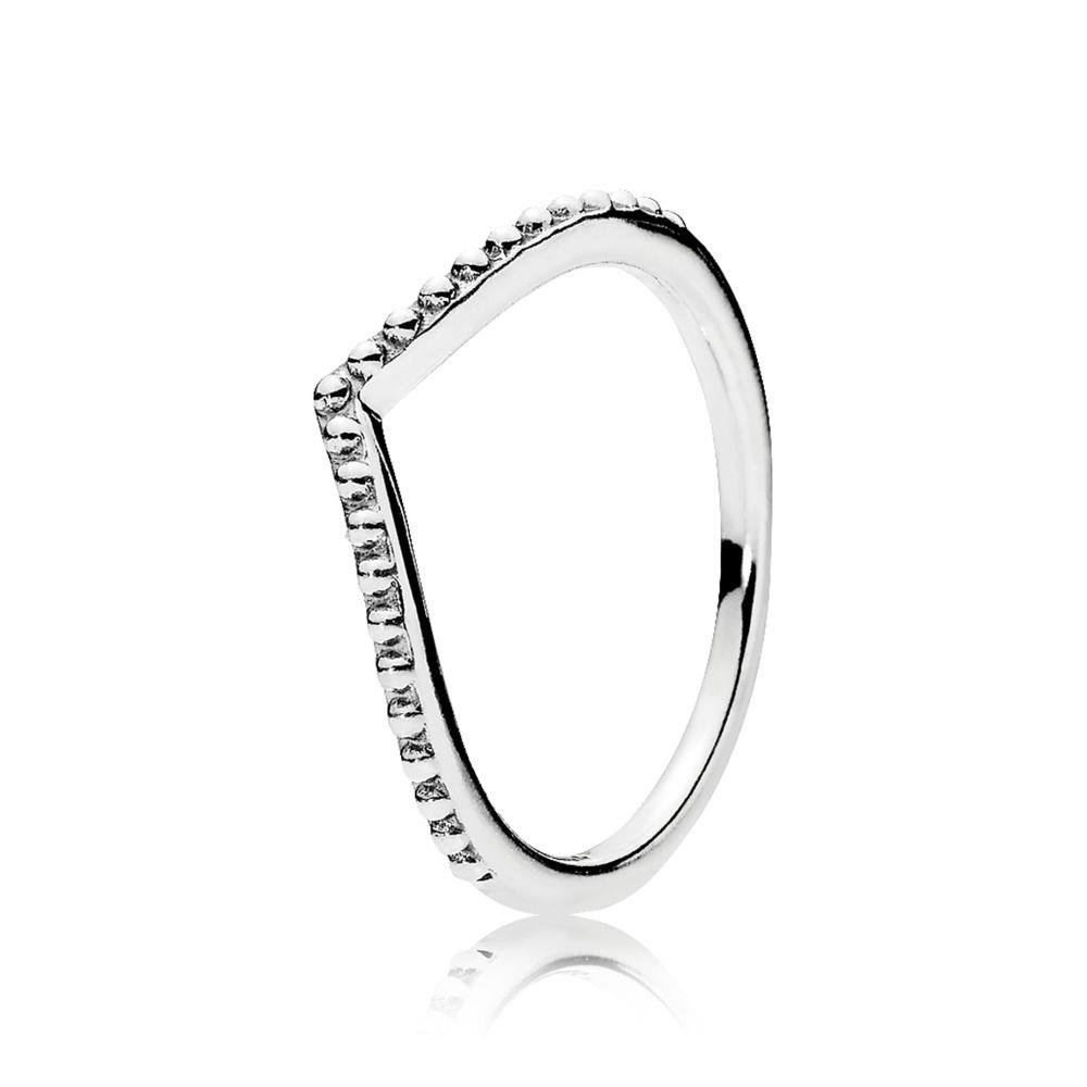 719216b89 Amazon.com: PANDORA Beaded Wish Ring 196315-54 EU 7 US: Jewelry