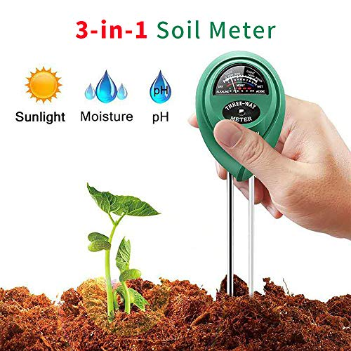 Vistefly Soil Tester, Humidity, pH, 3-in-1 Gardening Tester, Gardening Tools for Gardens, Vegetable Plots, Lawns, Plants, Herbs, for Indoor&Outdoor Plant Care (no Battery Required) (Green)