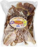 Pet Center DPC15048 20-Pack Natural Pig Ear with Label for Dog, Large