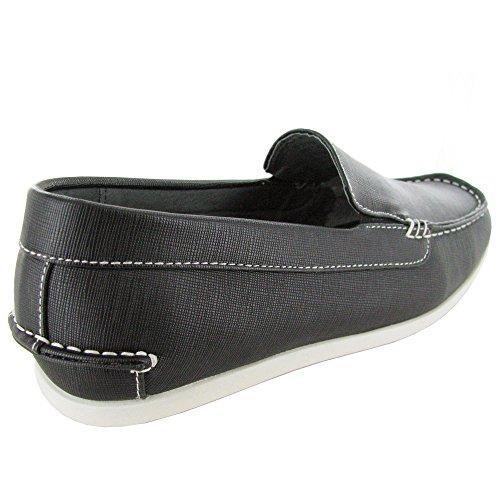 Gek Door Steve Madden Mens M-byron Slip-on Loafer Schoen Zwart