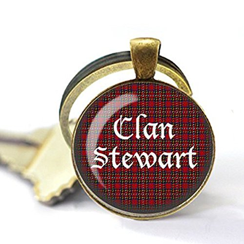 Tartan Jewelry - Your Family's Tartan and Clan Surname - Scotland Tartan Keychain - Name Tartan Gift - Scotland Plaid Keychain - Scottish Keychain -
