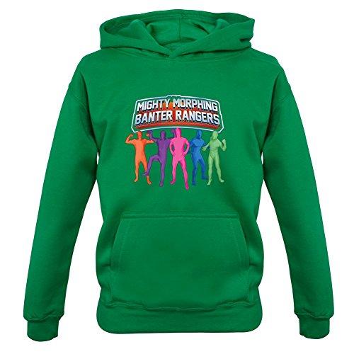 Mighty Morph Rangers - Childrens / Kids Hoodie -Irish Green-XXL(12-13 Years) (Green Ranger Morph Suit)