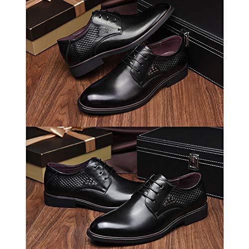 Shoe Adatto Ups Nozze Cuoio Formale Confortevole Black Casuale Festa Uomo Scarpe Traspirante Lace Calzature Per Xqwvpp