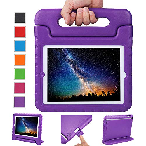 Price comparison product image NEWSTYLE Apple iPad 2 3 4 Shockproof Case Light Weight Kids Case Super Protection Cover Handle Stand Case for Kids Children for Apple iPad 4,  iPad 3 & iPad 2 2nd 3rd 4th Generation (Purple)