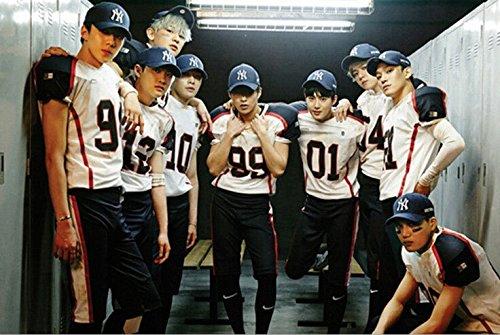 41f0643d4 EXO Support T-shirt SBS EXO BAEKHYUN SEHUN KRIS LUHAN Same Shirt ...