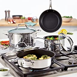 Circulon Genesis Stainless Steel Nonstick 8-1/2-Inch French Skillet