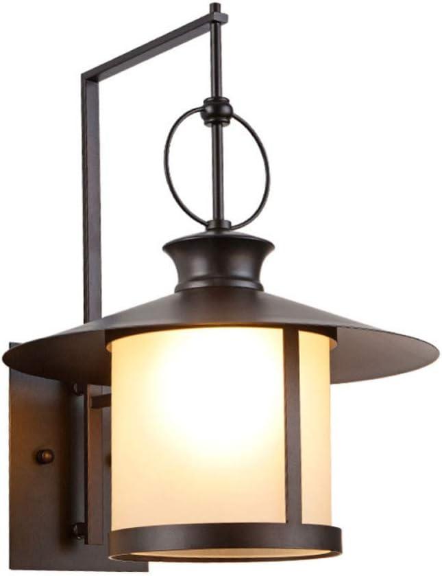 MEIM Linterna De Pared Americana Simple, Lámparas De Pared De Hierro Antiguo, Lámpara De Pared Impermeable para Jardín, para Pasillo Puerta Balcón Decorativo E27