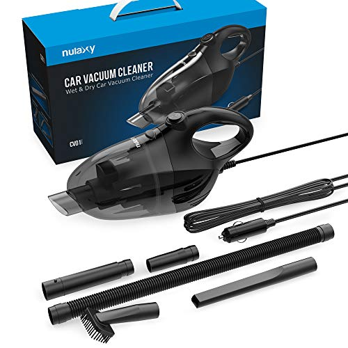 Nulaxy Car Vacuum Cleaner, High Power Strong Suction Vacuum Cleaner, Portable Lightweight Wet Dry Vacuum with 16.4 Ft Cord and Nozzles Set for Car Cleaning by Nulaxy (Image #6)