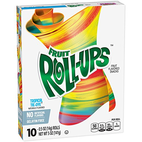 Rollups Fruit - Betty Crocker Fruit Roll-Ups Tropical Tye-Dye 10 - 0.5 oz Rolls