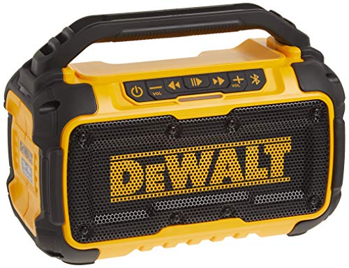 DEWALT 20V MAX Bluetooth Speaker for Jobsite, Tool Only (DCR010) Yellow/Black
