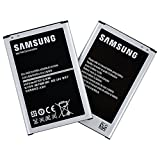 Samsung 3200mAh Standard Replacement Batteries for Galaxy Note 3, Pack of 2 - Non-Retail Packaging - Silver
