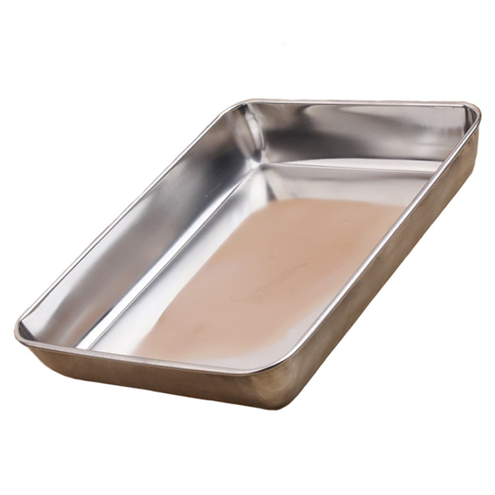 Sheet Pan,Cookies Pan Deep,Baking Sheet,Jelly Roll Pan Deep Edge,Heavy Duty Stainless Steel Baking Pan,Non-stick Bakeware by Septree (14.3×11.4×2.5 inches)