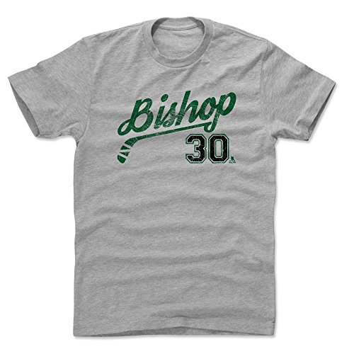 - 500 LEVEL Ben Bishop Cotton Shirt (Large, Heather Gray) - Dallas Stars Men's Apparel - Ben Bishop Script G