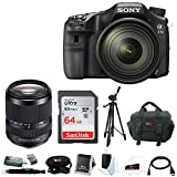 Sony A77II Digital SLR Camera 16-50mm Lens w/ 18-135mm Zoom Lens & Accessory Kit