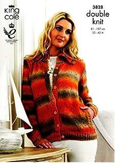 13243a246 King Cole Sweater   Tunic Moods DK Knitting Pattern 3930  Amazon.co ...