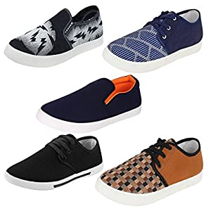 Super Men Combo Pack of 5 Casual Loafers Shoe with Sneaker Shoes