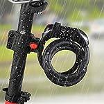 Oladwolf-Lucchetto-da-Bicicletta-Luce-Notturna-a-LED-Cavo-di-Blocco-della-Bici-a-Combinazione-a-4-cifre-Catena-antifurto-Blocco-antifurto-per-Bicicletta-Blocco-Cavo-150-cm12-mm