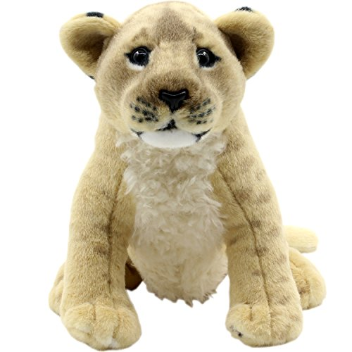 (TAGLN Stuffed Animals Lion Toys Plush Tiger Leopard Sitting 10 Inch)
