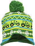 John Deere Little Boys' Winter Hat, Green/Yellow, TODDLER