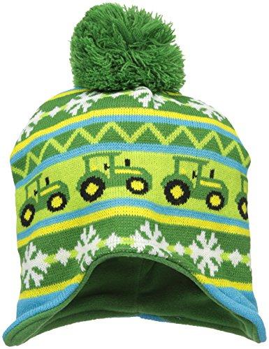 John Deere Little Boys' Winter Hat, Green/Yellow, TODDLER