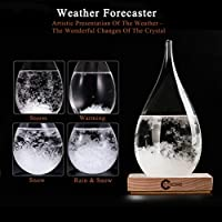 3D HOME Storm Glass Weather Stations Water Drop Weather Predictor Creative Forecast Nordic Style Decorative Weather Glass (Large) from 3D HOME®