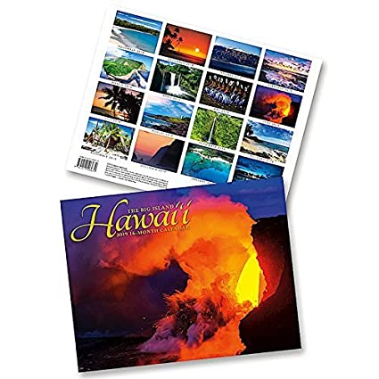 Hawaii School Calendar 2019-16 Amazon.: Hawaii the Big Island, 2019 16 Month Trade Calendar