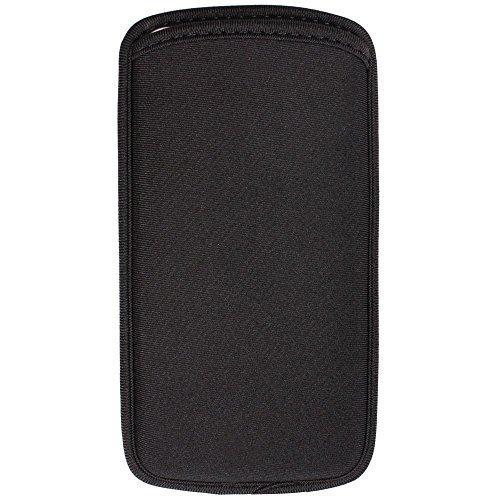Black Neoprene Cell Phone Pouch - 3