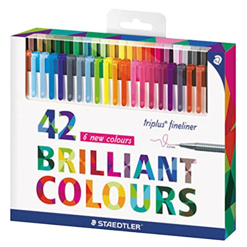 Staedtler 334C42 Triplus Fineliner 42-Color Assorted Super Fine Water-Based Marker by STAEDTLER (Image #1)
