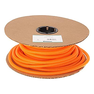 Panduit CLT38F-C3 Slit Wall Corrugated Loom Tubing, Orange